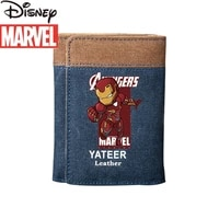 disneys new marvel luxury mens wallet canvas large capacity multi card fashion student card holder practical ladies wallet
