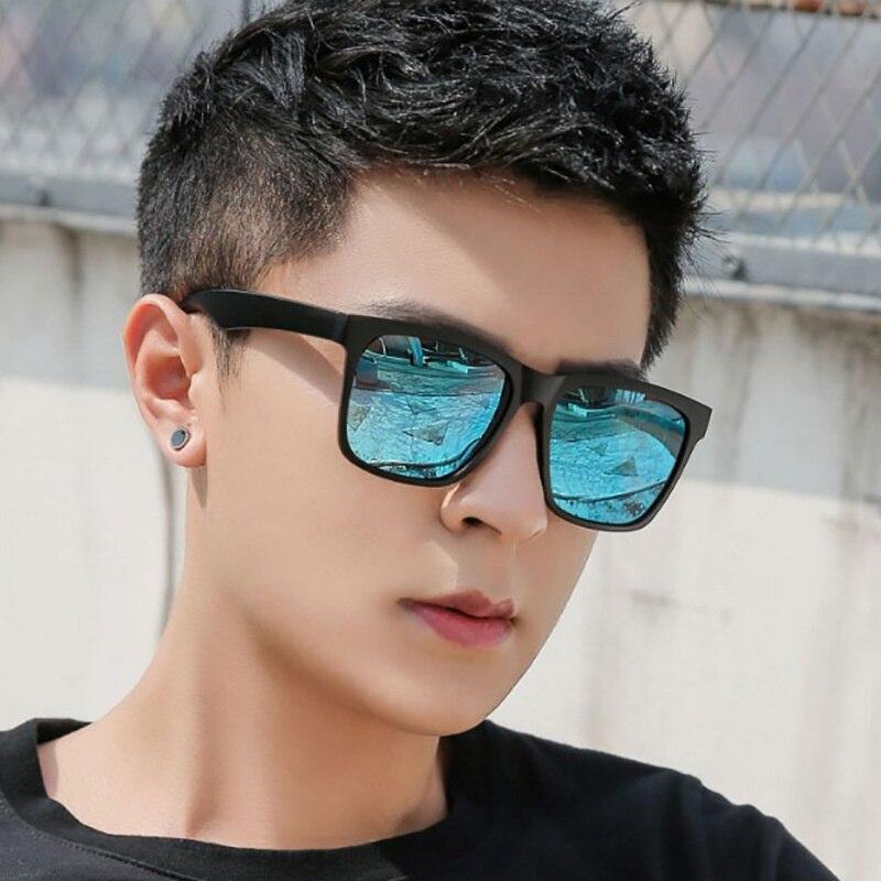Солнцезащитные очки для мужчин, брендовые дизайнерские пластиковые модные квадратные очки для вождения, дорожные солнечные очки