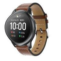 Оригинальный сменный классический кожаный ремешок для наручных часов для Xiaomi haylou solar ls05, умный Браслет для наручных часов, браслет