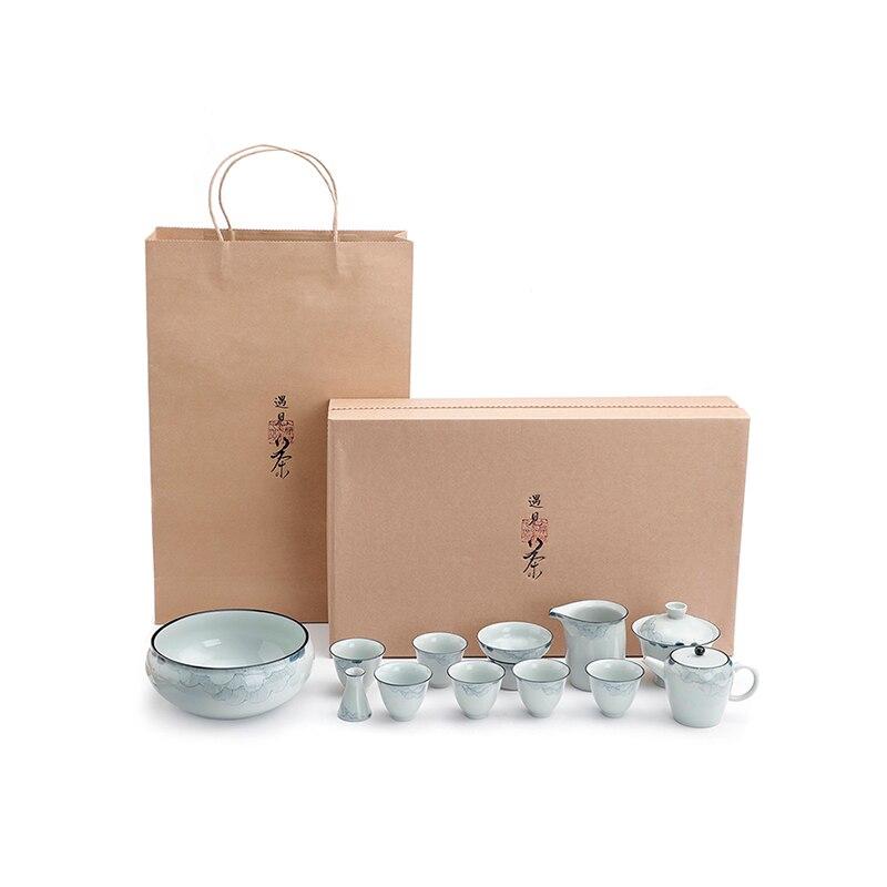 طقم شاي صيني فاخر عتيق طقم شاي مصغر الصين فقاعة Tazas Desayuno أصلي أكواب الإفطار 60AA07