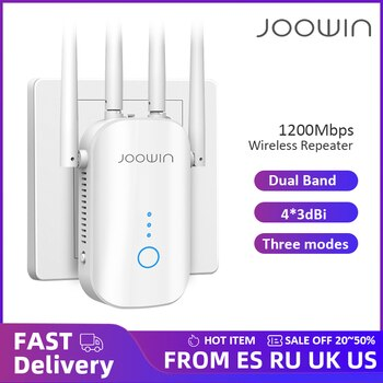 300M/1200Mbps 2.4G/5GHz Wireless Extender 802.11ac Wifi Repeater Powerful Wi-Fi Router Long Range Wlan WiFi Amplifier