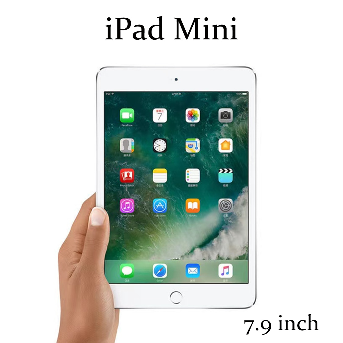 Original usado apple ipad mini 1st/2nd/5th 7.9 polegada 2012 90% novo 16/32/64gb preto prata ios tablet wifi versão duplo-core a5 5mp