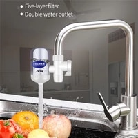 jvjh replaceable water purifier household faucet filter tap water filter five layer water cleaner water cartridge kitchen bath