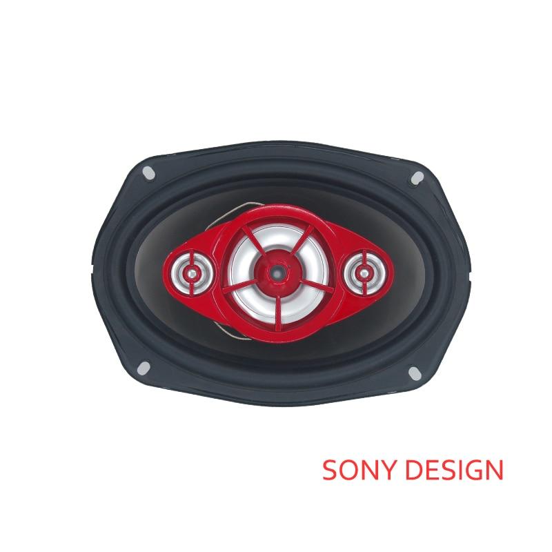 1pc 1200watts 6x9 polegada coaxial alto-falante do carro novo poderoso alto falantes de áudio, fim de alta fidelidade tweeter vermelho