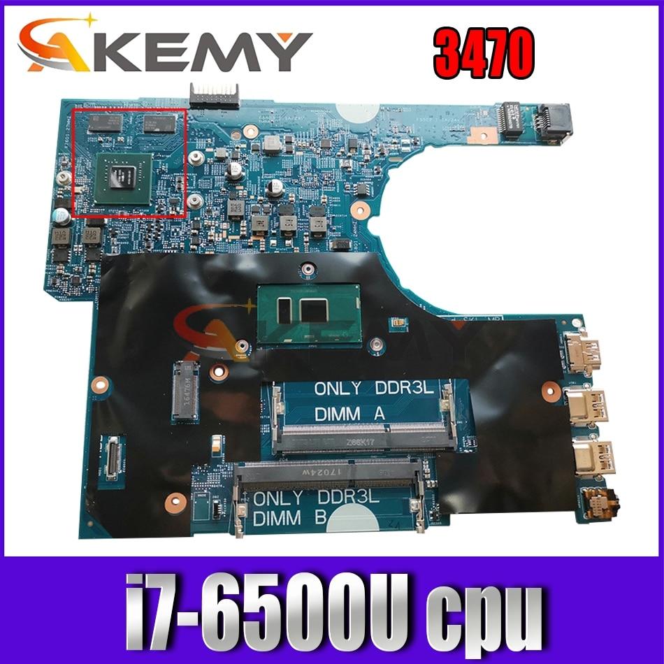 Akemy 00KCD9 0KCD9 لأجهزة الكمبيوتر المحمول Dell Latitude 3470 اللوحة الأم 14291-1 DDR3L i7-6500U اختبارها