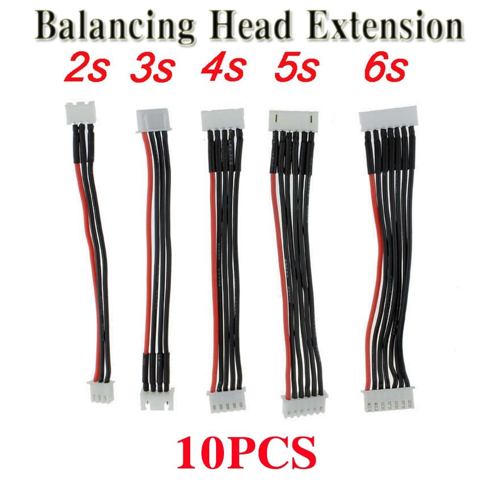 10pcs  RC FPV Battery Balancing Head Extension Line 2S 7.4V/3S 11.1V/4S 14.8V/5S-18.5V /6S-22.2V RC Extend line for Lipo Battery