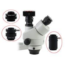 0,3x 0,5x C adaptateur dobjectif SZMCTV 1/2 1/3 1X adaptateur pour Simul Focal trinoculaire stéréo Microscope HDMI VGA USB caméra vidéo