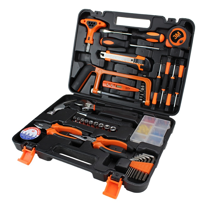45 PCSManufacturers Selling Function Home Practical Toolbox Household Hardware Hand Tools Combination Suit Maintenance Tools Set