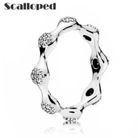 scalloped simple pea pods rings women hot sale fashion party couple statement jewelry dropshipping