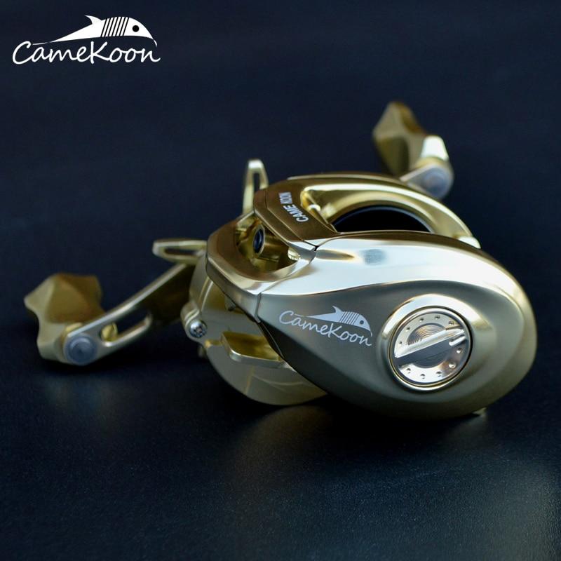 CAMEKOON Aluminum Alloy Frame 10+1 Ball Bearings 7.3:1 Gear Ratio High Speed Baitcast Reel For Fishing enlarge