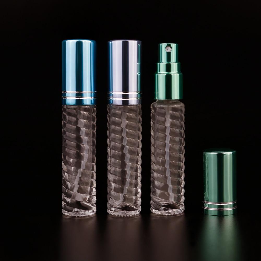 3.5ml spiral bottle glass bead stripe spray bottle transparent essential oil bottle high-end perfume bottle glass bottle
