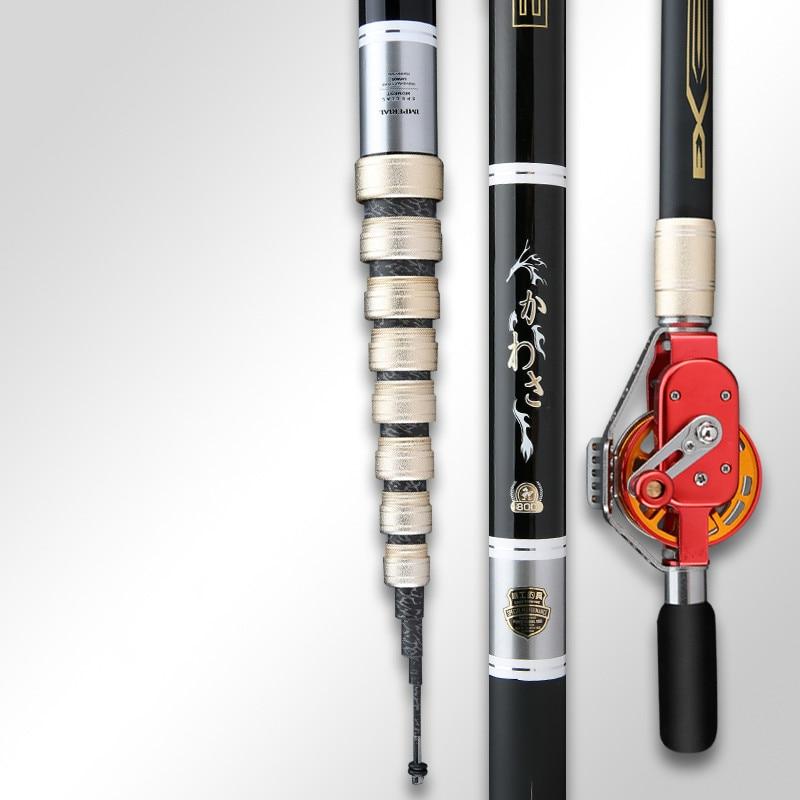 Hollow Rod Multi-purpose 4.5m-10m Positioning Taiwan Fishing Peche Short Section Fishing Pesca Hand Olta 28 Tonalty Fishing Pole enlarge