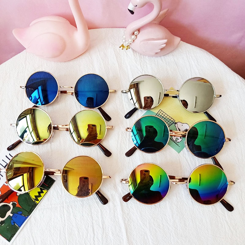 2020 New Vintage child UV400 lens Polycarbonate Sunglasses Boys/Girls Gafas Prince mirror Round Allo