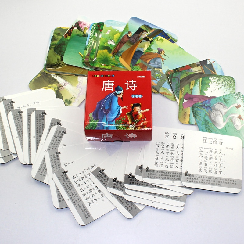 Livros Chinese Characters Cards Learn to Tang Poetry With pinyin For Children Kindergarten Early Education Books Libros Book Art недорого