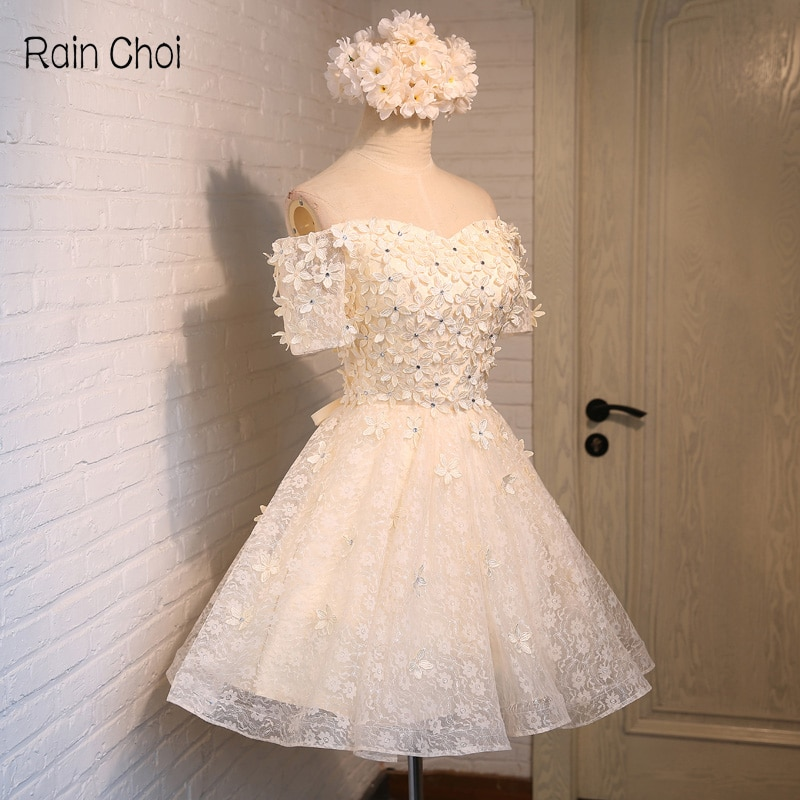 فستان سهرة قصير بأكمام قصيرة ، فستان كوكتيل رسمي ، 2021
