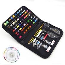 128pcs Portable Sewing Box Sewing Thread Organizer Pearl Head Pin Sewing Set Knitting Thread Organizer Needlework Scissor