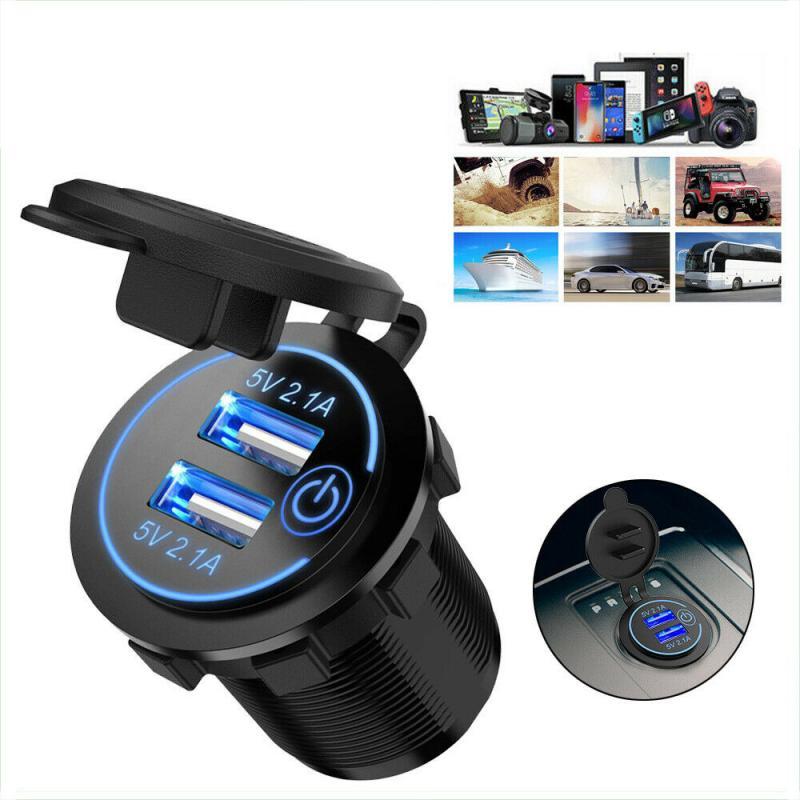 Usb carregador de carro adaptador universal carga rápida 3.0 carregador de carro para o telefone móvel carregamento rápido 12v/24v motocicleta usb carregador de carro