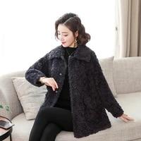 winter women cozy wool berber fleece jacket dark gray khaki coffee warm soft woollen plush coat thermal thicken overcoat m l 2xl