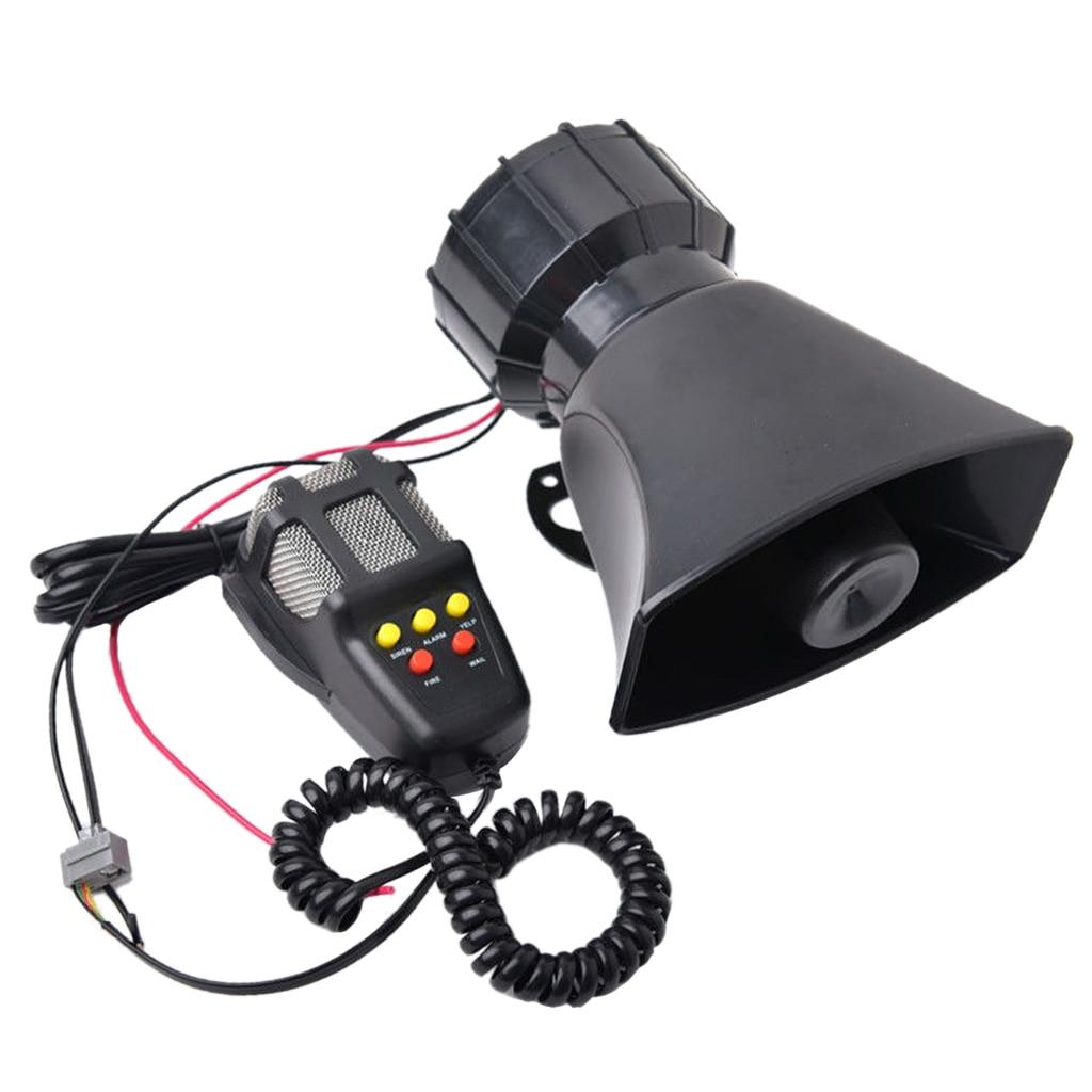 100W Alto Falante 12V Fogo Carro Caminhão PA Chifre Siren Aviso Sistema de Microfone Kit