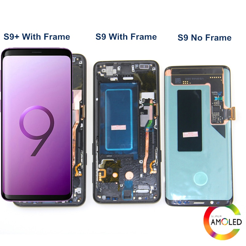 100% Original Display With Frame for SAMSUNG Galaxy S9 LCD Display Touch Screen Digitizer S9 Plus G960 G965 Repair Parts enlarge