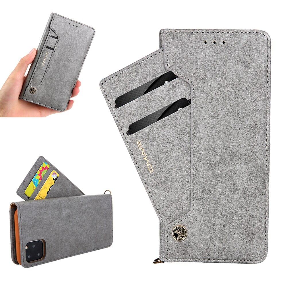 Funda abatible de cuero para iPhone 11 11 Pro Max tarjetas ocultas soporte cartera funda para iPhone X XR Xs Max 8 7 6 Plus bolsa para teléfono