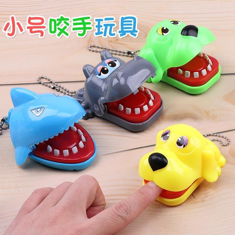 Antiestrés mordedura dedo juego tiburón hipopótamo cocodrilo perro Animal broma divertida novedad juguetes para niños familia broma regalos de cumpleaños