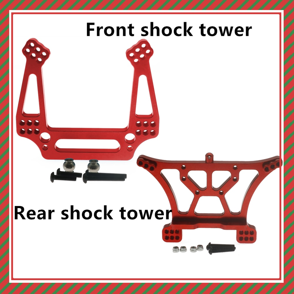 Alloy front/rear shock tower for rc hobby model car 1/10 for Traxxas Slash 2WD short course upgraded
