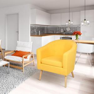 Modern Minimalist Living Room Sofas Luxury Single Sofa Balcony Bedroom Living Room Lazy Sofa Tatami Single Linen Sofa Bed HWC