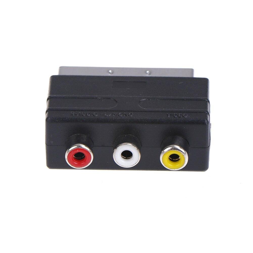 Переходник Scart на 3 RCA S-Video, Композитный RCA адаптер для телефона, конвертер AV TV Audio для видео, DVD, рекордера, телевизора, проектора