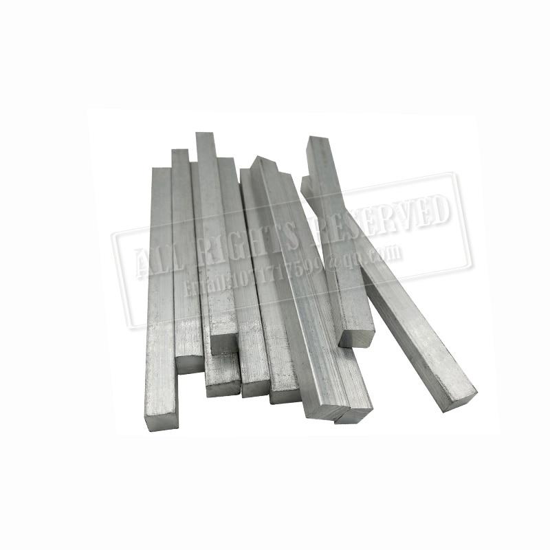 titanium rod 6mmx6mm 8mmx8mm 10mmx10mm Square titanium steel rod DIN 3.7035 titanium flat iron alloy Ti steel metal rod grade 5 dia 1mm to 15mm tc4 titanium alloy round rod stick solid ti bar cutting tool metal supplies
