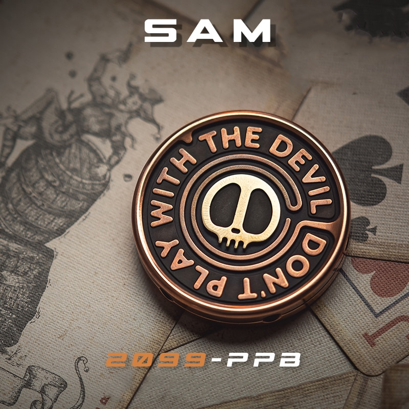 LAUTIE 2099-SAM Pop Coin Brand New Skull Image Fingertips Adults Play With Decompression Toys enlarge
