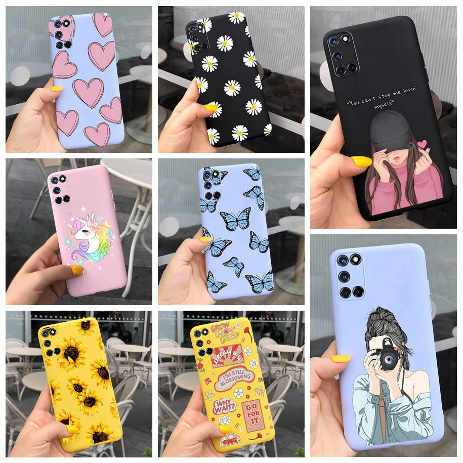 Phone Case For OPPO A52 Cases A 52 A 72 Fashion Girls Painting Soft TPU Silicone Protect Back Cover