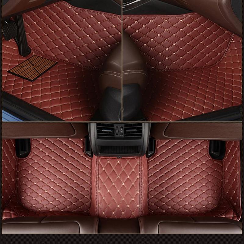 Leather Custom 5 Seat Car Floor Mats for bmw 3 Series E90 F30 G20 Compact E36 Convertible E93 E46 E92 Touring E91 f31 carpet  - buy with discount