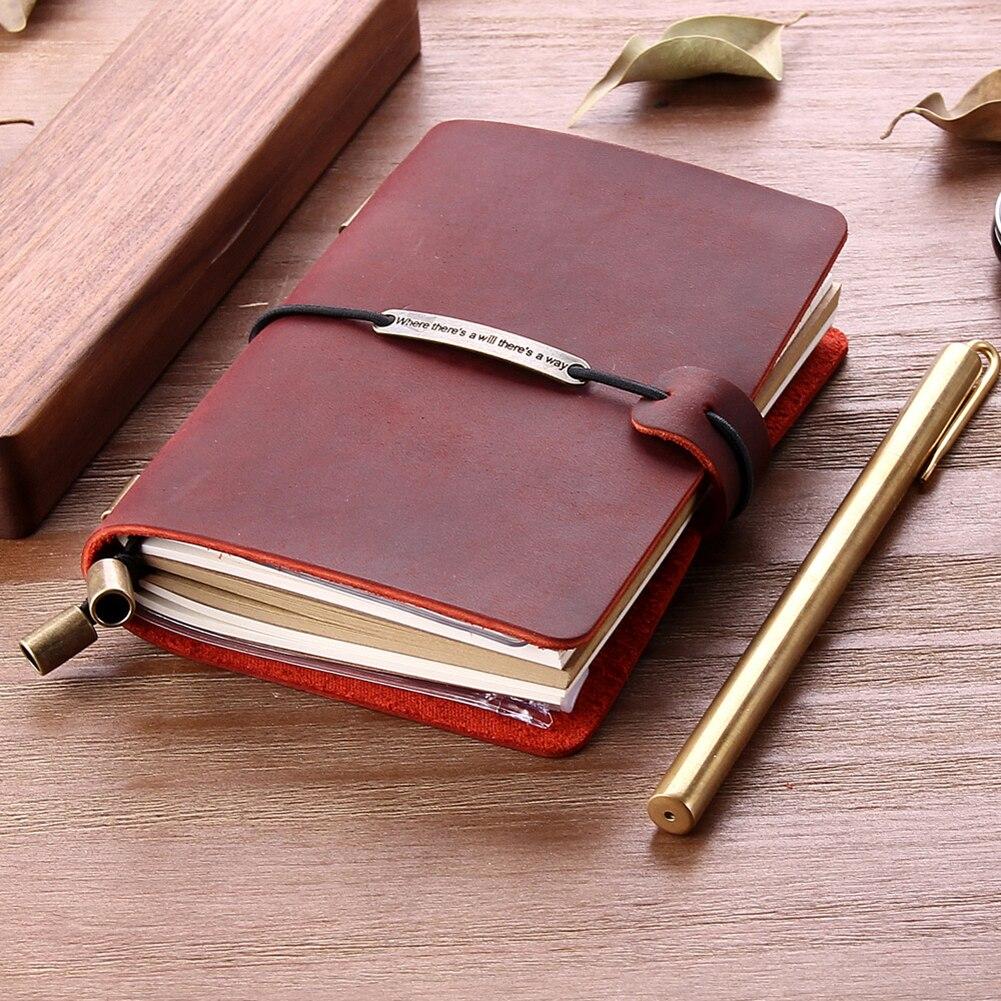Para fazer a lista efficent notebook vintage couro genuíno viajante caderno diário bolso couro do presente de natal