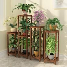 Para Plantas Suporte Flores Saksi Standi For Table Wood Dekoration Outdoor Flower Stand Stojak Na Kwiaty Rack Plant Shelf