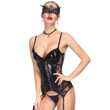 Corset women   steampunk корсет lace black sexy bustier corset waist trainer sexy lingerie bodysuit slimming underwear corselet