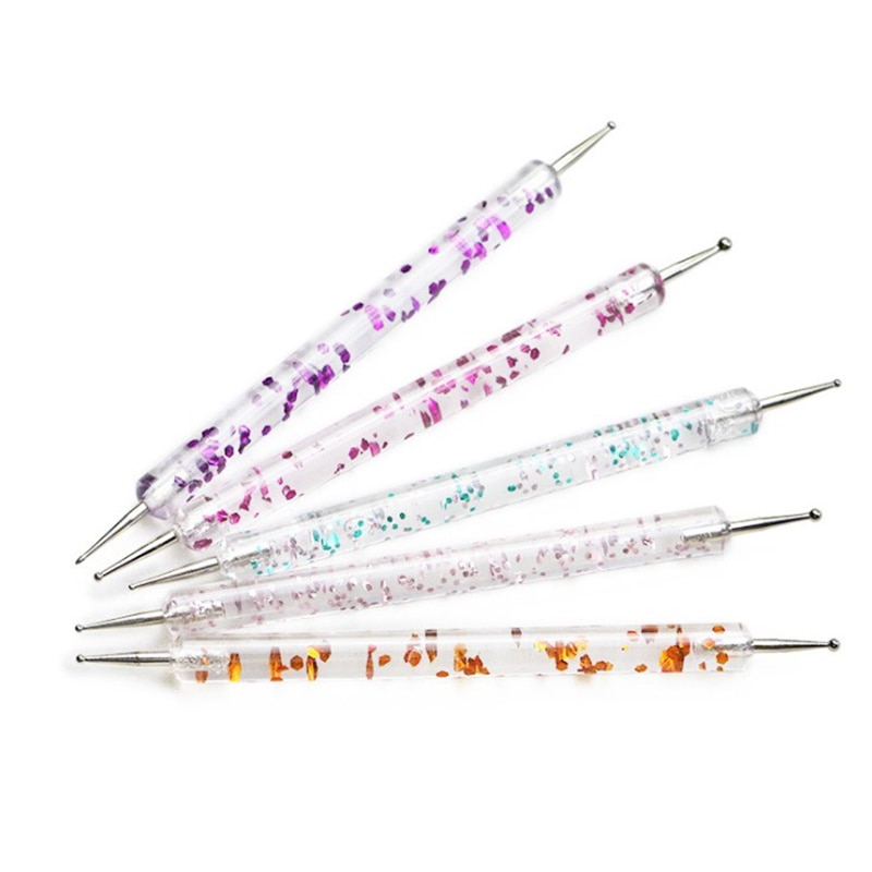 5 шт./лот, 2 способа рисунки на ногтях ручка Marbleizing Ручка для нейл арта для очарование Маникюр для художественного оформления ногтей, ручная работа поставить расставить комплекс инструмента Доттсы      АлиЭкспресс