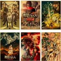 japanese anime poster attack on titan vintage wall art canvas painting hd prints modular picture for living room kid home decor
