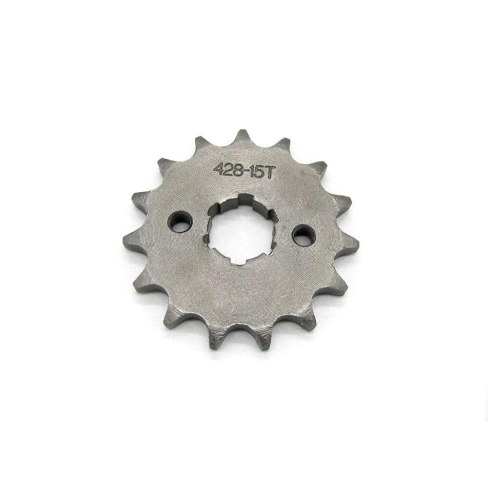 15 dentes 428 20mm corrente roda dentada dianteira pit para trail quad sujeira bicicleta atv buggy