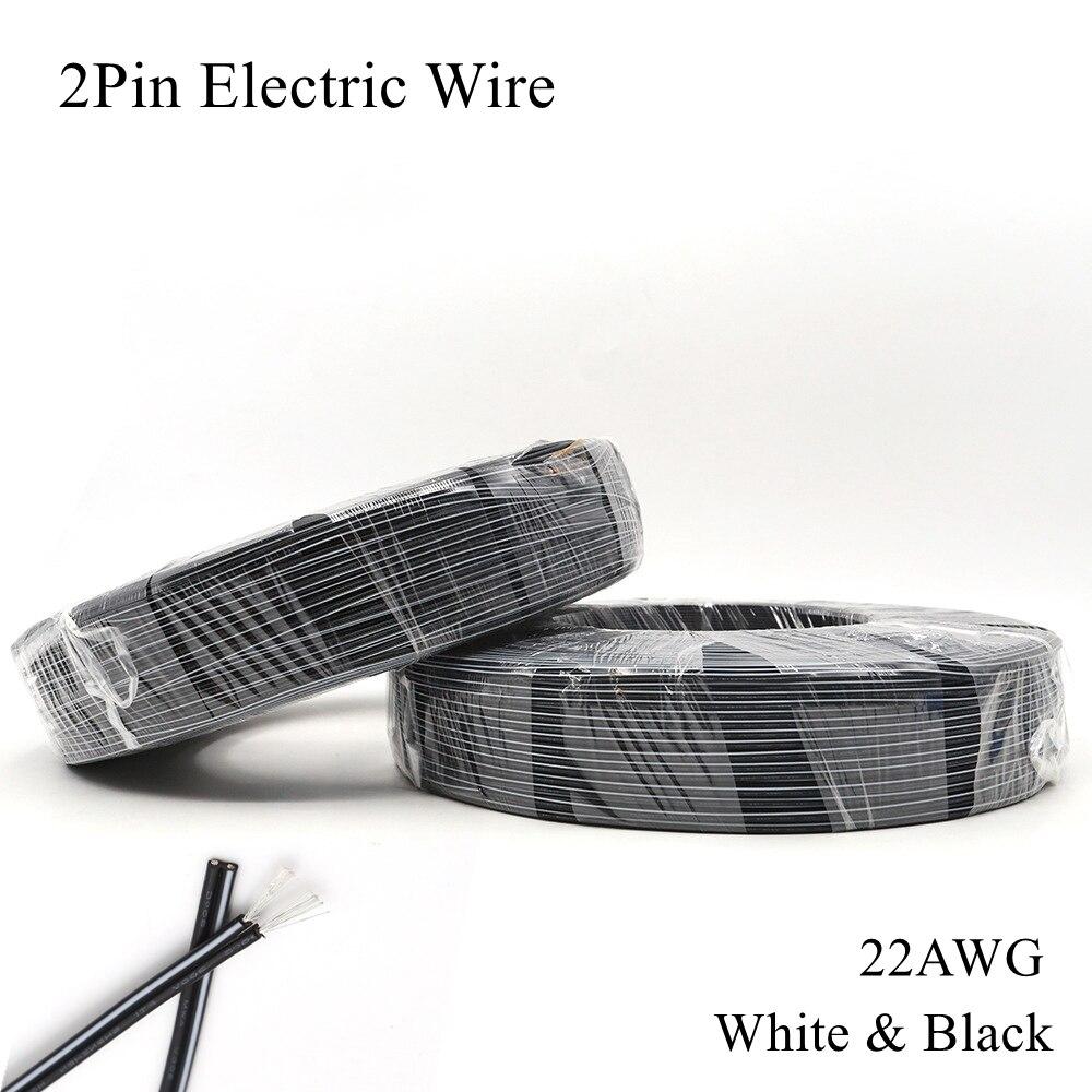 Cable eléctrico de cobre estañado, 22AWG, 2 pines, Cable de cobre estañado...