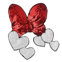 1pcs cartoon bowknot patch for clothing sew on embroidered sew applique cute patch fabric clothes badge diy apparel accessories