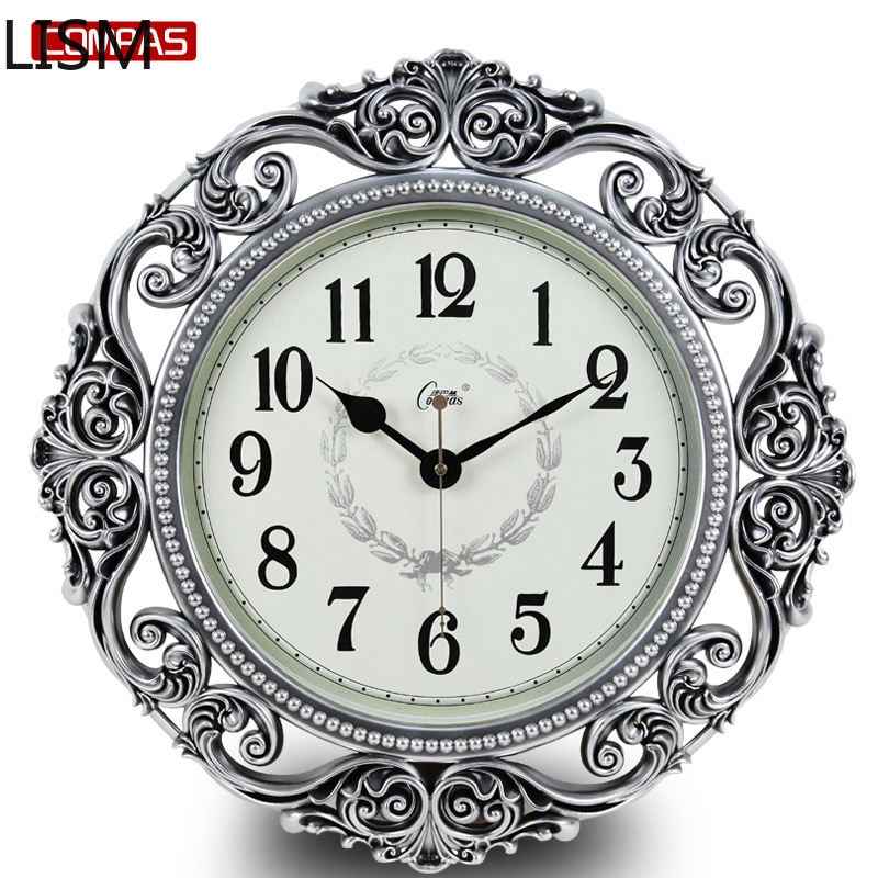 Wall Clock Modern Design Art European Style Living Room Fashion Creative Simple Big Clock Garden Pocket Watch Quartz Clock