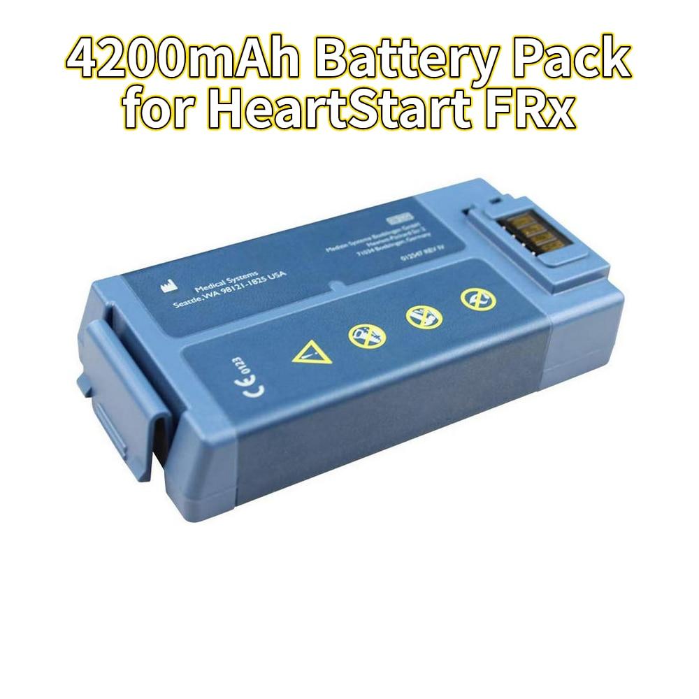استبدال بطارية ذات سعة عالية 9 فولت 4200 مللي أمبير في الساعة لبطارية هيرتستارت FRx الطبية M5070A M5066A بطارية ليثيوم أيون جديدة