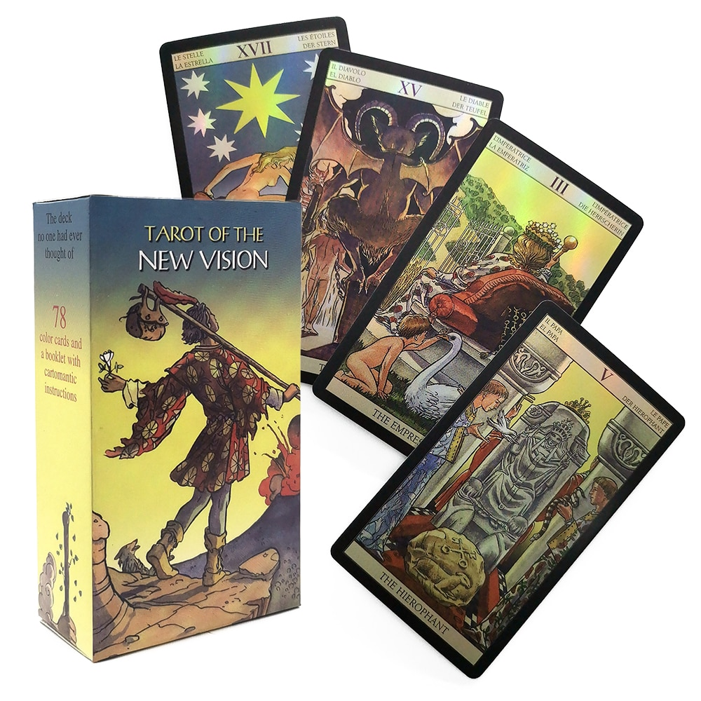 New vision rider wait Tarot Cards Games shining playing Cards oracle deck toys divination fate table game gifts