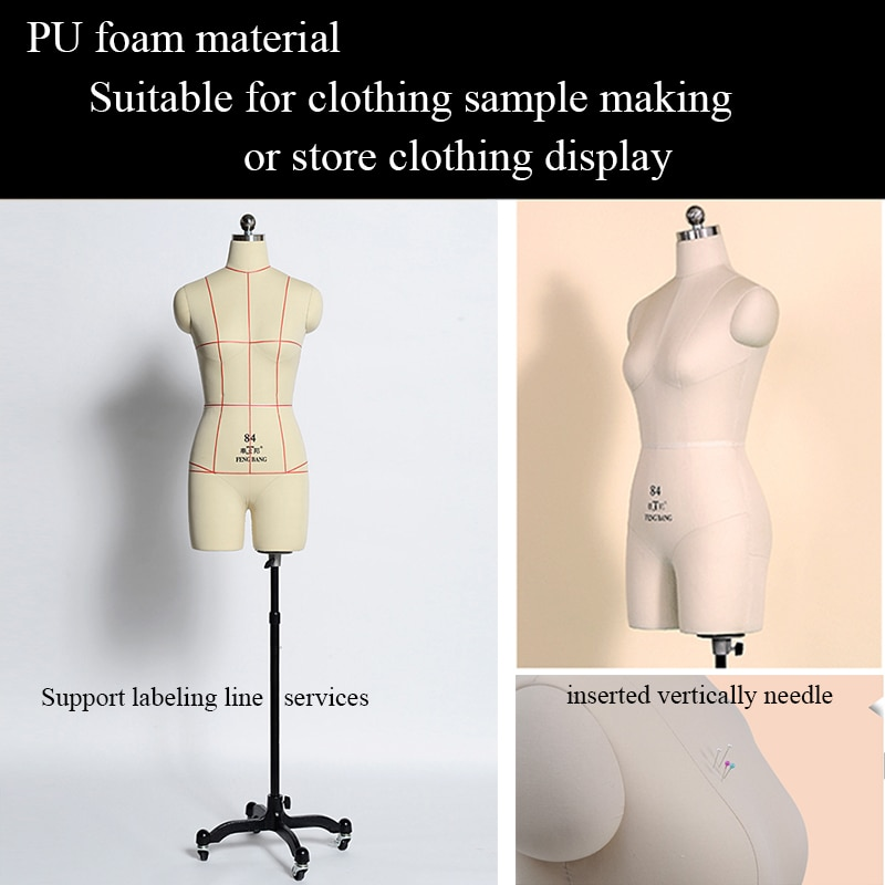 بو رغوة الخياطة عارضة أزياء المصنع مباشرة بيع أحدث تصميم الإناث الجذع الخياطة عارضة أزياء بدون الأسلحة