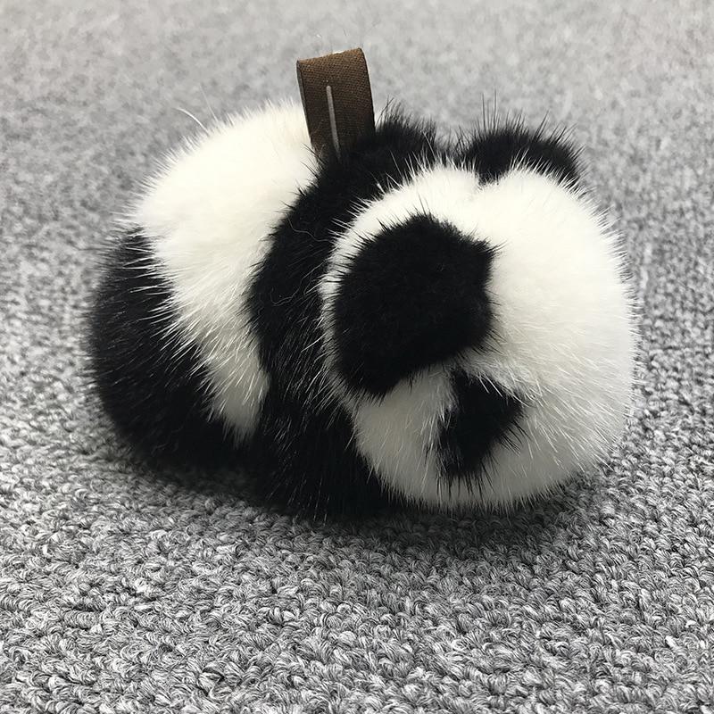 Норковая панда кукла сумка кулон милый плюшевый автомобиль украшения креативные меховые куклы брелок для девочек подарок на день рождения