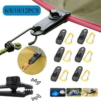 681012pcs tent canopy clip buckle outdoor rope clamps awning barb clip tarpaulin buckle mountaineering camping accessories