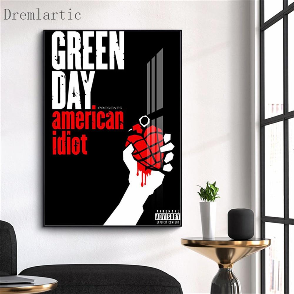 Зеленый День холст постер из шелковой ткани современный стиль печать вечерние дом Декор номер #20-1005-42-06