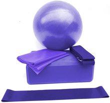 Übung Ball Yoga Ball Yoga Fitness Ausrüstung Fünf-Stück Anzug, yoga Ball/Yoga Ziegel/Fitness Stretch Bands/Stretch Widerstand