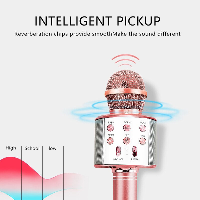 Bluetooth Wireless Microphone Handheld Karaoke Mic USB Mini Home KTV For Music Professiona Speaker Player Singing Recorder Mic enlarge